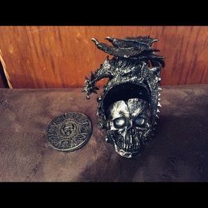 Skull and Dragon Coaster Set